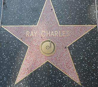 Ray Charles - Star honoring Charles on the Hollywood Walk of Fame, at 6777 Hollywood Boulevard