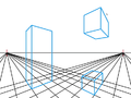 Rectangular Prisms in a Two-Point Perspective Grid.png