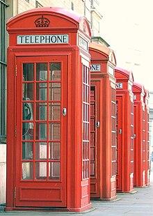 Cabine t l phonique rouge wikip dia - Cabine telephonique a vendre ...