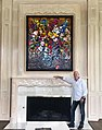 "Reflectionist Artist JD Miller pictured with his 3D Oil Painting ""A Grand Celebration"" 72 x 60 inches.jpg"