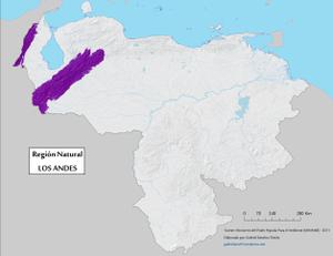 Venezuelan Andes - Image: Region Natural Andes