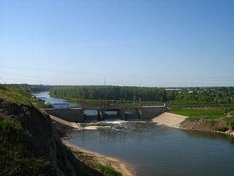 North Kazakhstan Region - Image: Reka Ishim Petropavlovskij gidrouzel