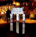 Remains Roman Forum at night.jpg