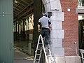 Renovation works at the former tram-depot in Amsterdam Old-West, district Kinkerbuurt - Renovatiewerkzaamheden aan de oude tram-remise in de Kinkerbuurt, in Amsterdam Oud-West, 2014.jpg