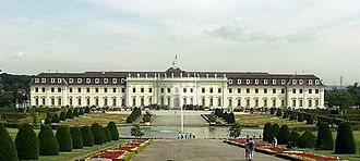 Ludwigsburg - View of the upper grounds of Ludwigsburg Palace.