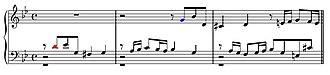 Fugue - Image: Respuesta tonal en la fuga