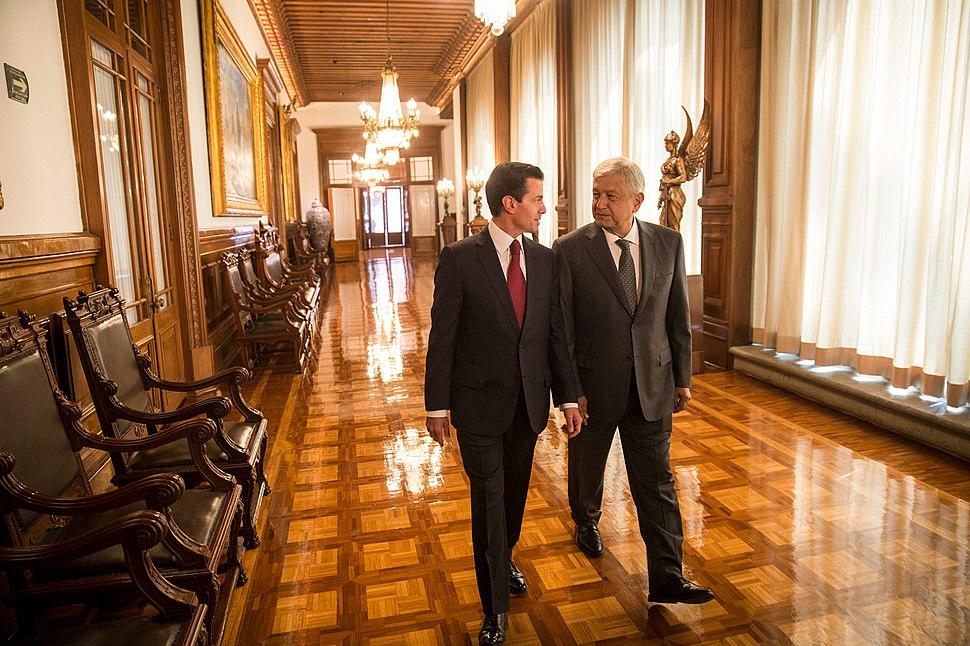 Reunión Peña Nieto-López Obrador en Palacio Nacional 2