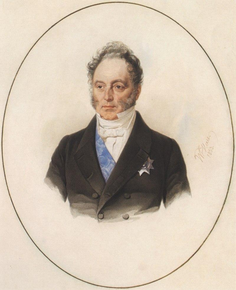 портрет кисти В.А. Гау (1853)