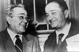 1958 Argentine general election - Image: Ricardo Balbin y Crisólogo Larralde