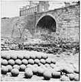 Richmond, Va. 1865 - Piles of solid shot, canister, in the Arsenal grounds.jpg