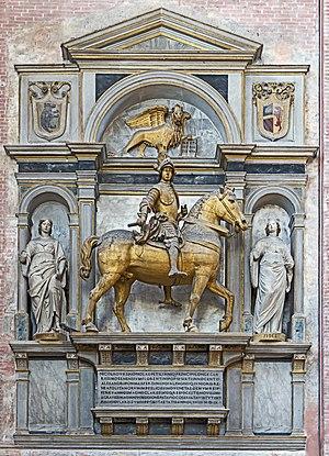Niccolò di Pitigliano - equestrian statue of Niccolò Orsini  in San Zanipolo