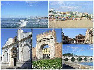 Rimini City in Emilia-Romagna, Italy