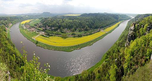 River Elbe bend panorama