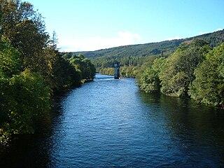 River Oich river in Scotland