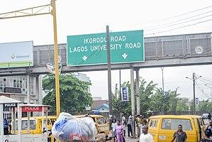 Yaba, Lagos - Image: Road directional at Sabo Yaba
