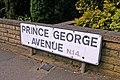 Road sign, Prince George Avenue, London N14 - geograph.org.uk - 860193.jpg