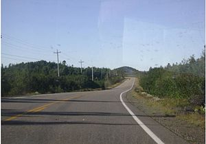 Newfoundland and Labrador Route 340 - Heading northbound towards Twillingate