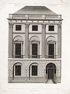 St James's Square - The façade of No. 20 as designed by Robert Adam.