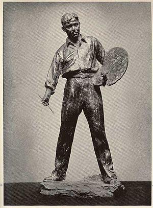 Robert Brackman - Sculpture of Robert Brackman, published in the book Labor Sculpture by Max Kalish, ©1938 Comet Press.