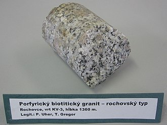 Well logging - An example of a granite core