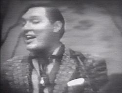 "Bill Haley nello spettacolo televisivo ""The Ted Steele Show"" (1955)."