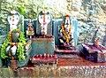 Rock cut deity reliefs and sculptures near Gangadhara water jet.jpg