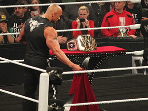 WrestleMania 29 - Prior to WrestleMania, The Rock introduced a new design for the WWE Championship.