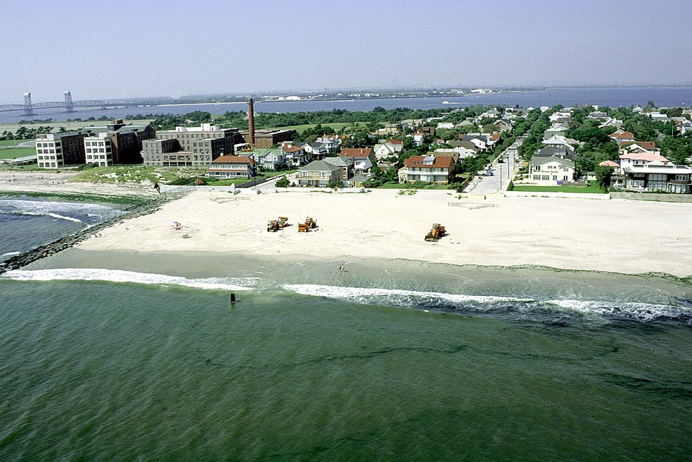 Rockaway Beach aerial view
