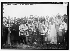 National American Indian Memorial - Indian Chiefs on February 22, 1913 at the groundbreaking ceremony for the National American Indian Memorial