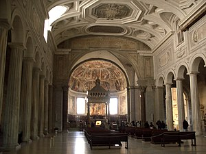 History of the papacy (1048–1257) - San Pietro in Vincoli, the site of the papal election, 1061, the first to exclude the laity