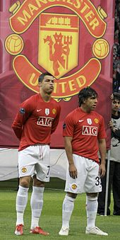 Ronaldo Left And Carlos Tevez Prior To A Champions League Match