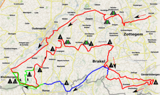 Final 170 kilometres (110 mi) of the 103rd Tour of Flanders