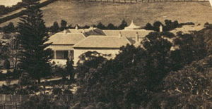 Rose Bay, New South Wales - Rose Bay Cottage (then called Rose Bay Lodge) circa 1855 when it was owned by Sir Daniel Cooper