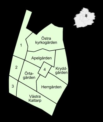 Rosengård - Neighbourhoods before July 2013.