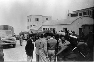 Rosh HaNikra Crossing - IDF prisoners being released from Lebanon at Rosh Hanikra, 23 March 1949