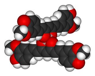 Rosocyanine - Space filling model
