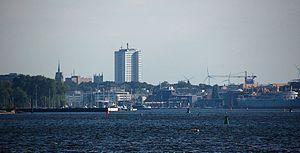 Unterwarnow - View to the City of Rostock