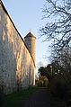 Rothenburg ob der Tauber, Stadtmauer, südlich Faulturm, Feldseite, 001.jpg
