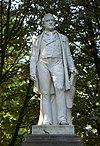Standbeeld van Tollens. Bronzen standbeeld door Johan Theodor Stracke