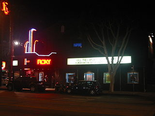 Roxy Theatre (West Hollywood) nightclub and music venue on the Sunset Strip in West Hollywood, California, USA