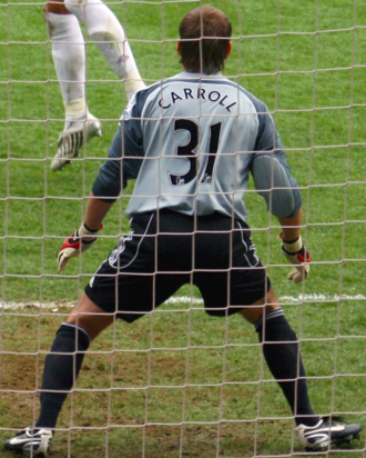 County Fermanagh - Fermanagh born Goalkeeper Roy Carroll playing with Derby County.