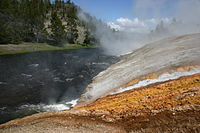 Runoff from Excelsior Geyser to Firehole River at Midway Geyser Basin.jpg