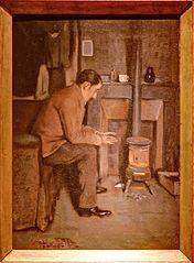Retrat d'Utrillo davant l'estufa