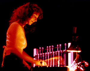 Ruth Underwood - Ruth Underwood playing at a Frank Zappa concert, ca. 1975