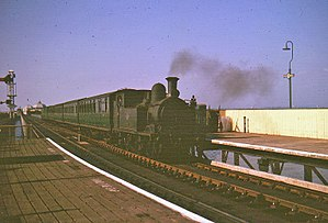 Isle of Wight Railway - A train at Ryde Esplanade in 1964