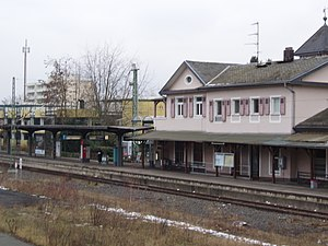 Bad Soden (Taunus) station - Image: S Bahnhof Bad Soden 1