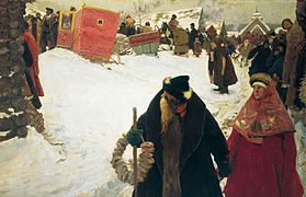 S. V. Ivanov. Foreigners' arrival to Moscow, XVII century. (1901).jpg