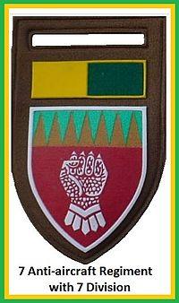 SADF 7 Light Anti aircraft Regiment Flash