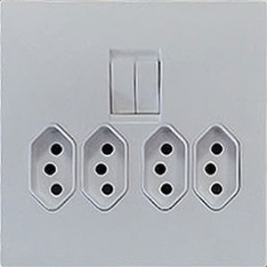 IEC 60906-1 - South African SANS 164-2, quadruple socket