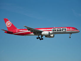 SBA Airlines Boeing 757-236 (YV450T) at Miami International Airport.jpg